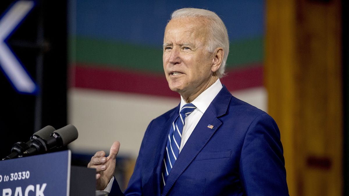 Former Vice President Joe Biden speaks at a campaign event at the Colonial Early Education...