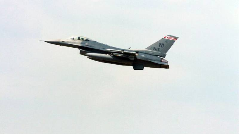 An F-16 flying out of Volk Field