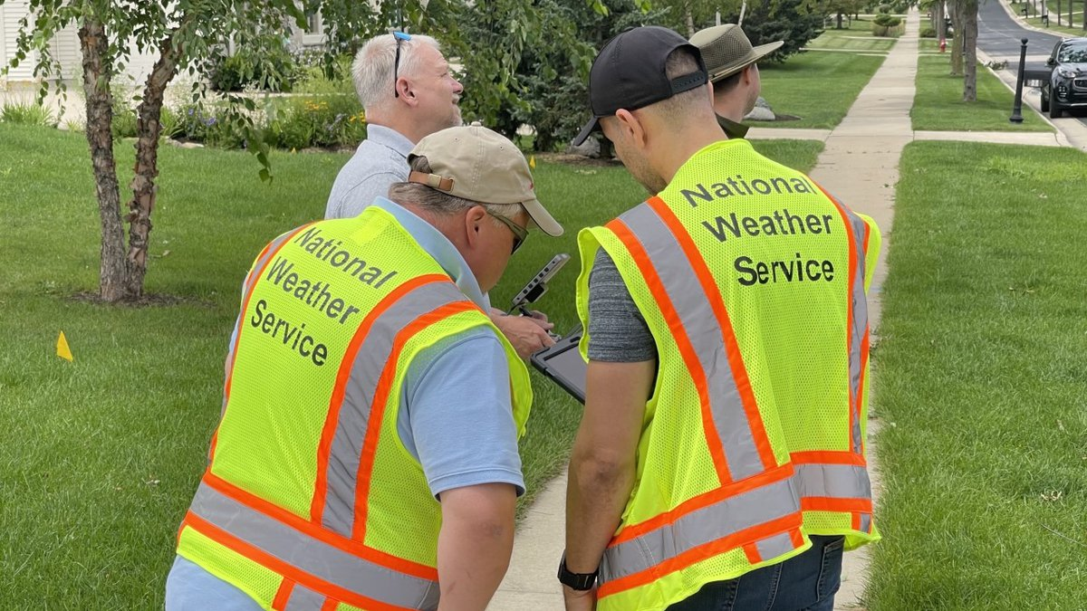 A survey team from NWS Milwaukee investigated damage between Verona and Middleton Friday...