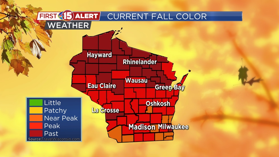 Current Fall Color Map