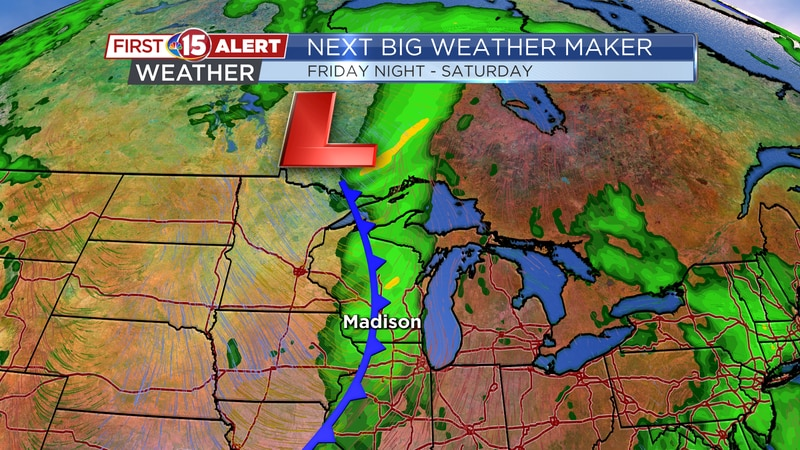 Next Big Weather Maker - Cold front brings in the best chance of rain and storms this week