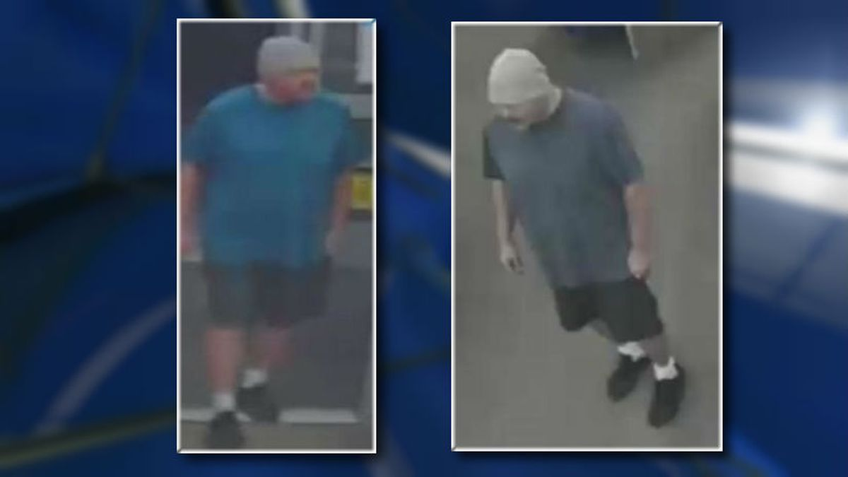 Surveillance images of a man accused of stealing money from a Madison Walgreens. (Source: Madison Police Dept.)