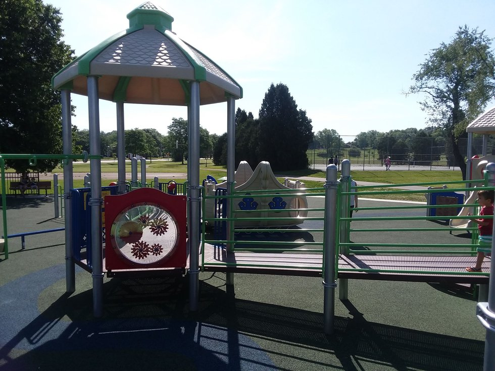 Accessible playground at Elver Park