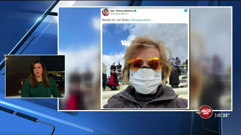 Baldwin tweets from inauguration; Johnson congratulates Pres. Biden, VP Harris