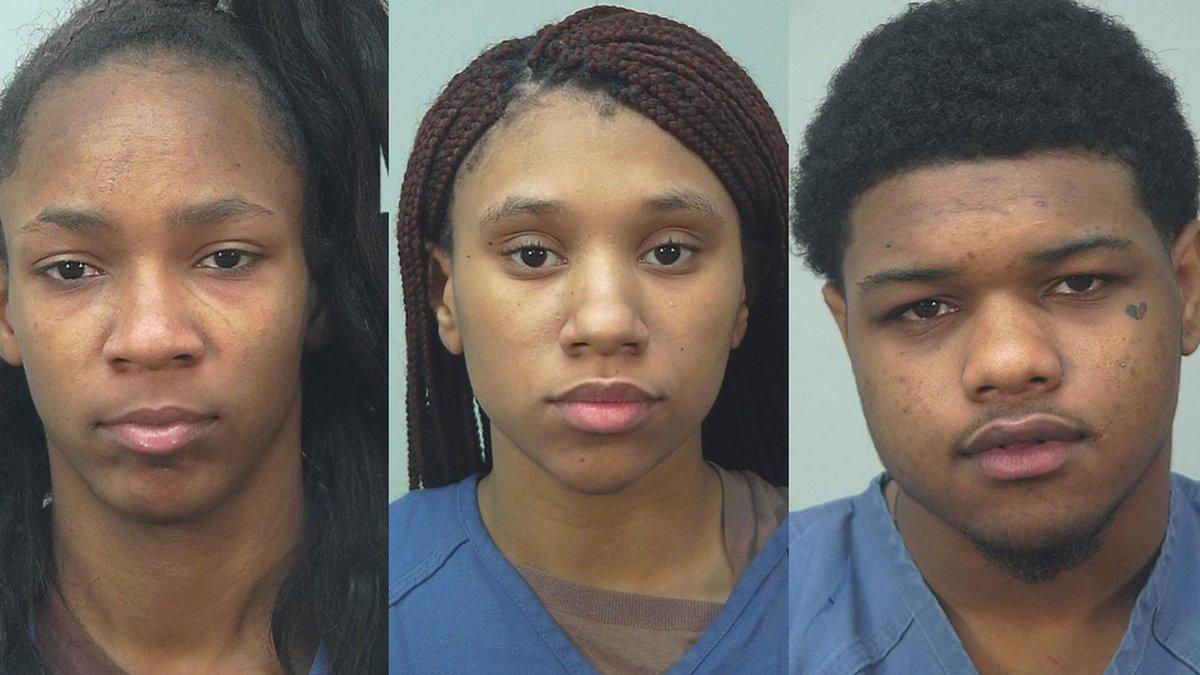 Ashanti Freeman, Toneice Horne, and Reginald Sexton (Source: Dane Co. Sheriff's Office)