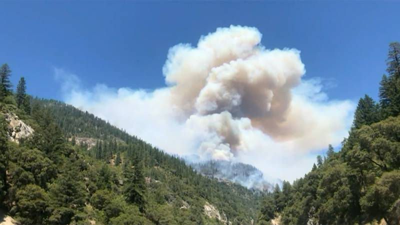 The Dixie Fire was burning near Paradise, Calif., on Wednesday.