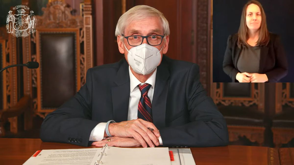 Gov. Tony Evers opens COVID-19 vaccine eligibility to everyone 16 and older on April 4 (March...