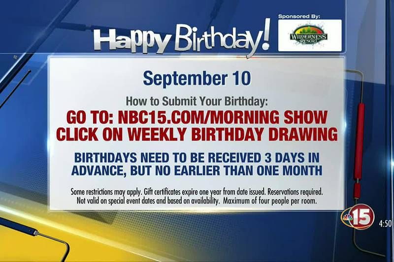 Birthdays for Friday, September 10