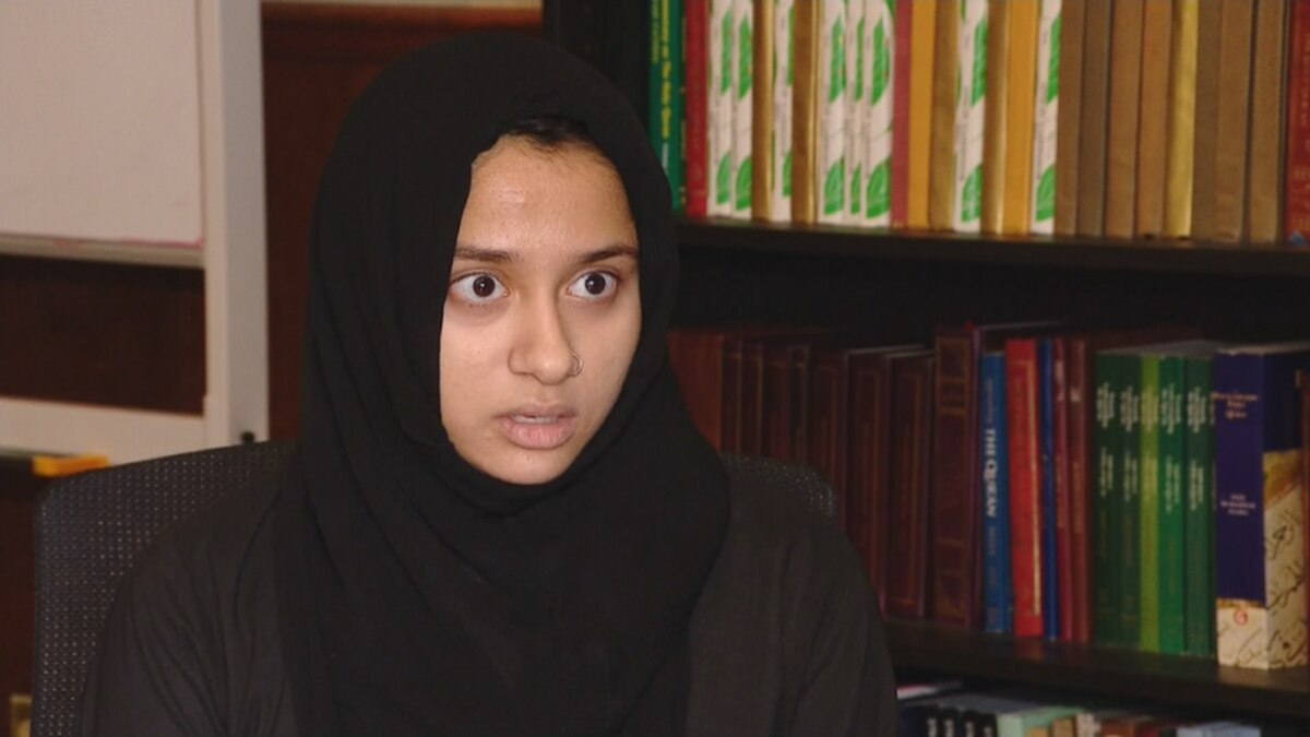 In a Dec. 4, 2019, interview, Duua Ahmad describes leading fellow Oshkosh West High School students to safety inside Ahmadiyya Muslim Community's mosque following a stabbing and shooting at the school. (WLUK image)