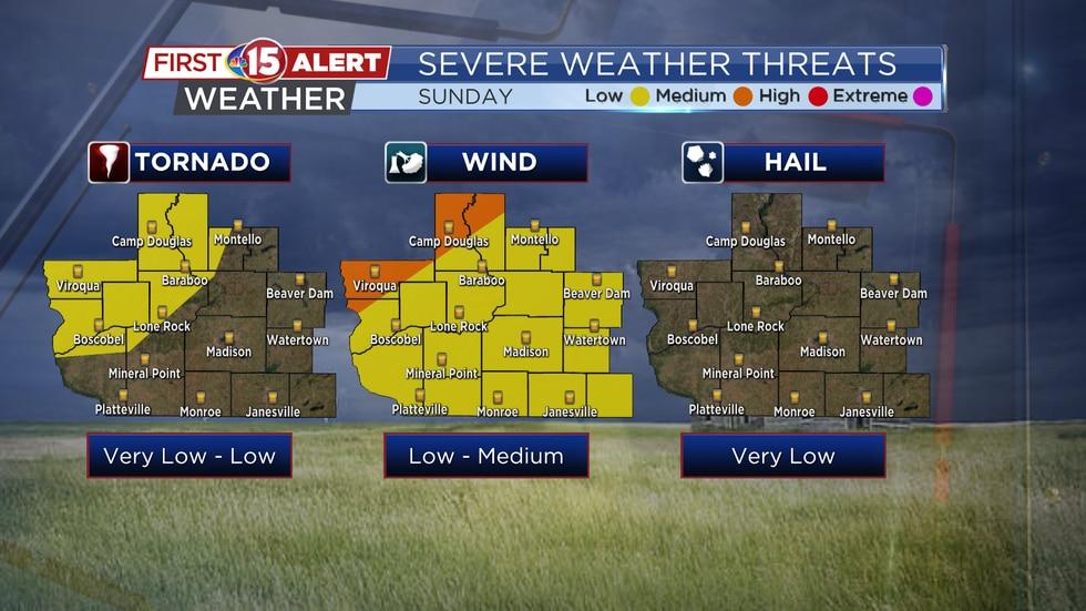 Severe Weather Threat Maps - Sunday