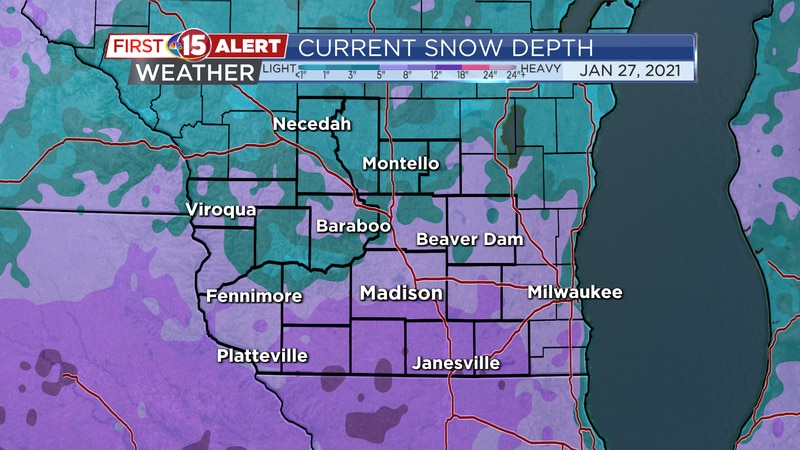 One to two feet of snow is currently on the ground over much of southern Wisconsin. This is...