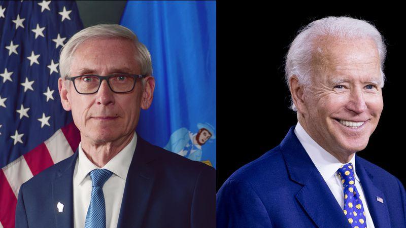 Gov. Tony Evers announced Monday he is endorsing Joe Biden for president.