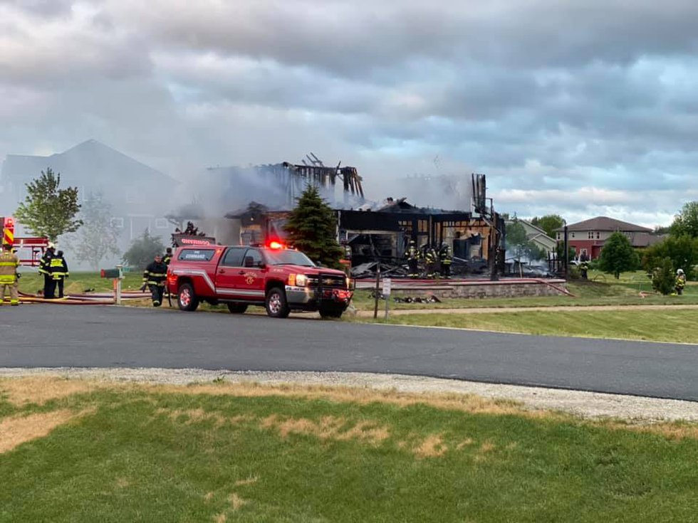 A Town of Middleton house is a total loss after an early morning fire.