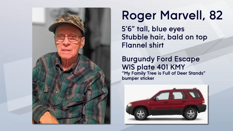 A Silver Alert was issued March 19, 2021, for Roger Marvell of Oak Creek