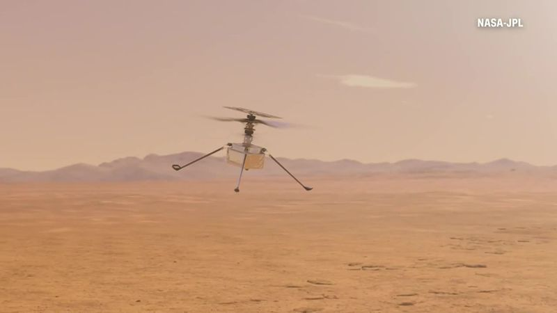 Ingenuity, NASA's Mars helicopter, became the first powered aircraft to land on another planet...