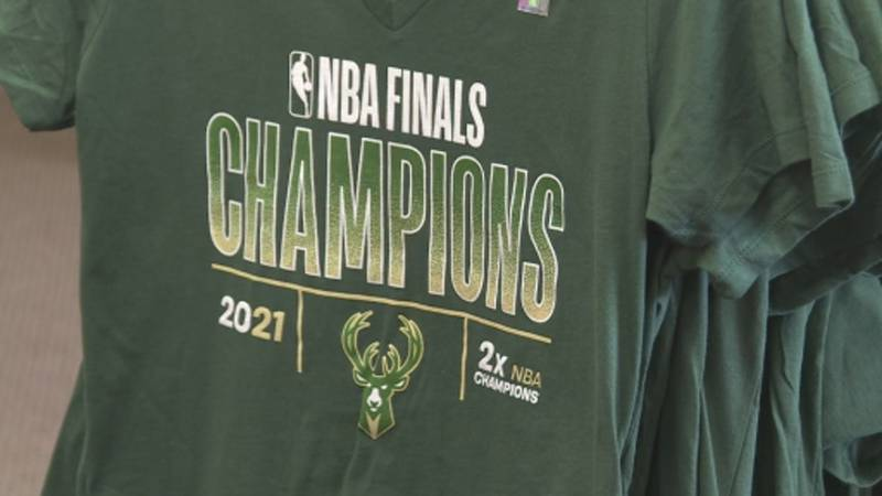 Name of the Game in Monona is selling NBA Championship t-shirts.