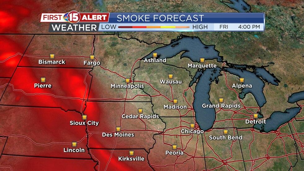 Smoke Forecast - Friday Afternoon