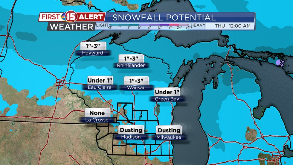 Snowfall Potential Monday - Wednesday