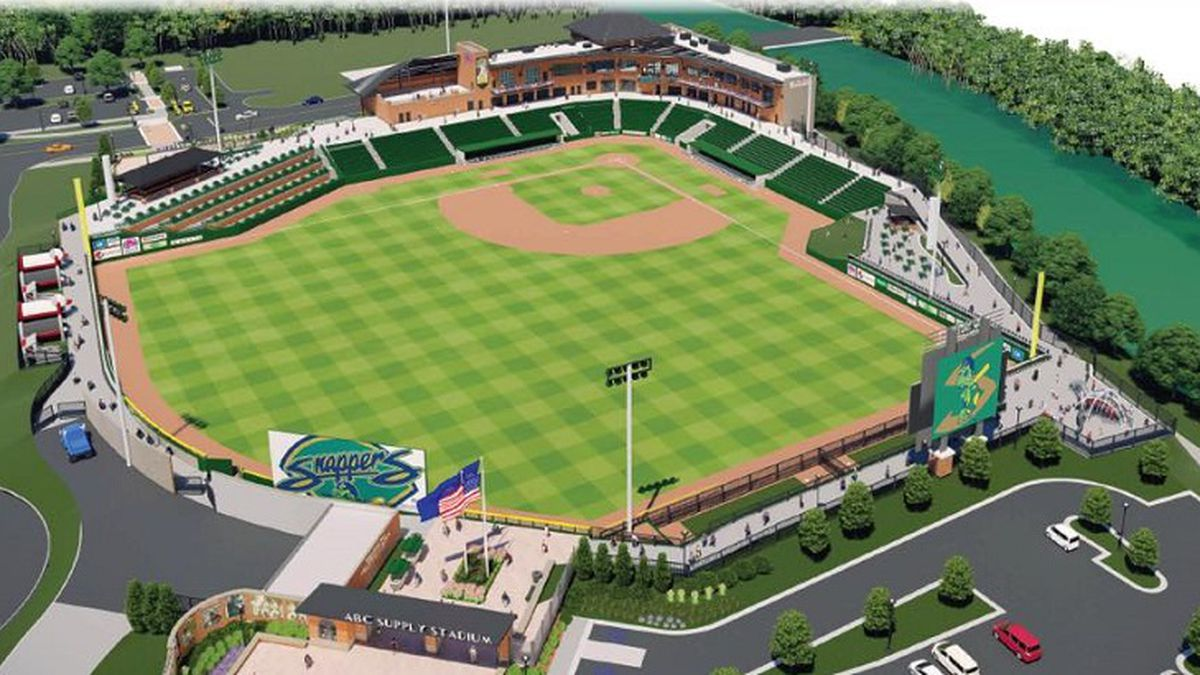A rendering of the proposed baseball stadium for the Beloit Snappers (Source: City of Beloit)