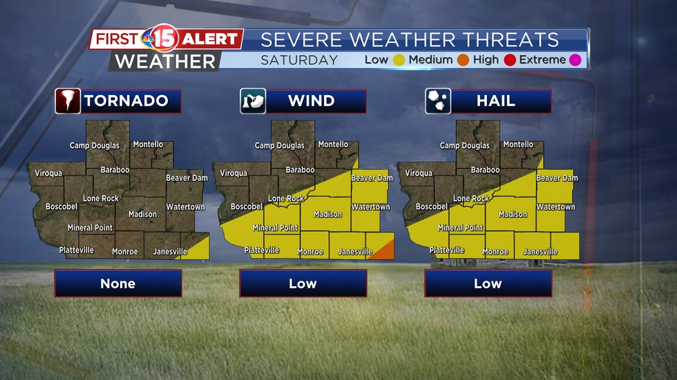 Severe Weather Threat Map - Saturday