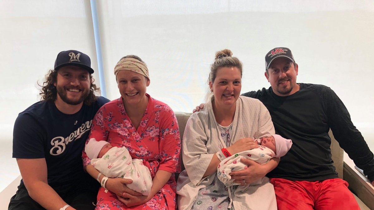 Cousins born on same day-- May 2 at Eau Claire hospital.