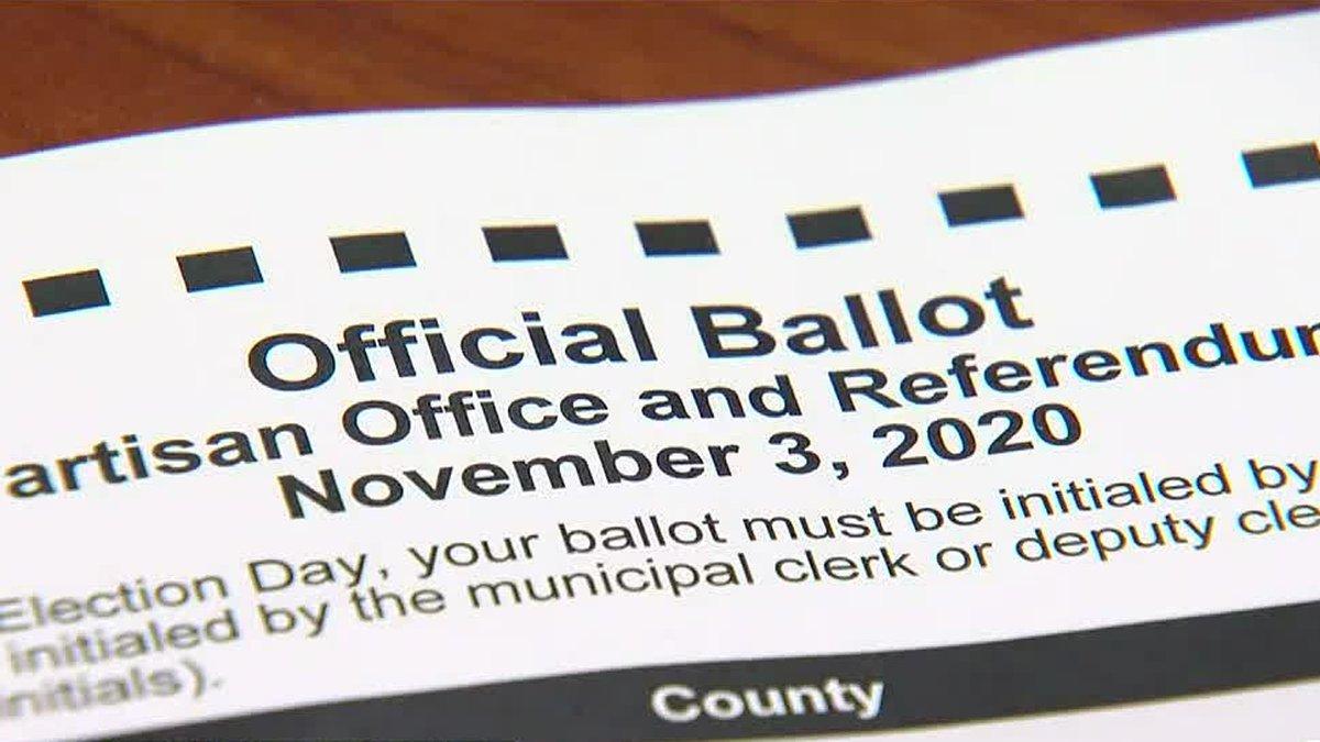 November 3 Wisconsin election ballot