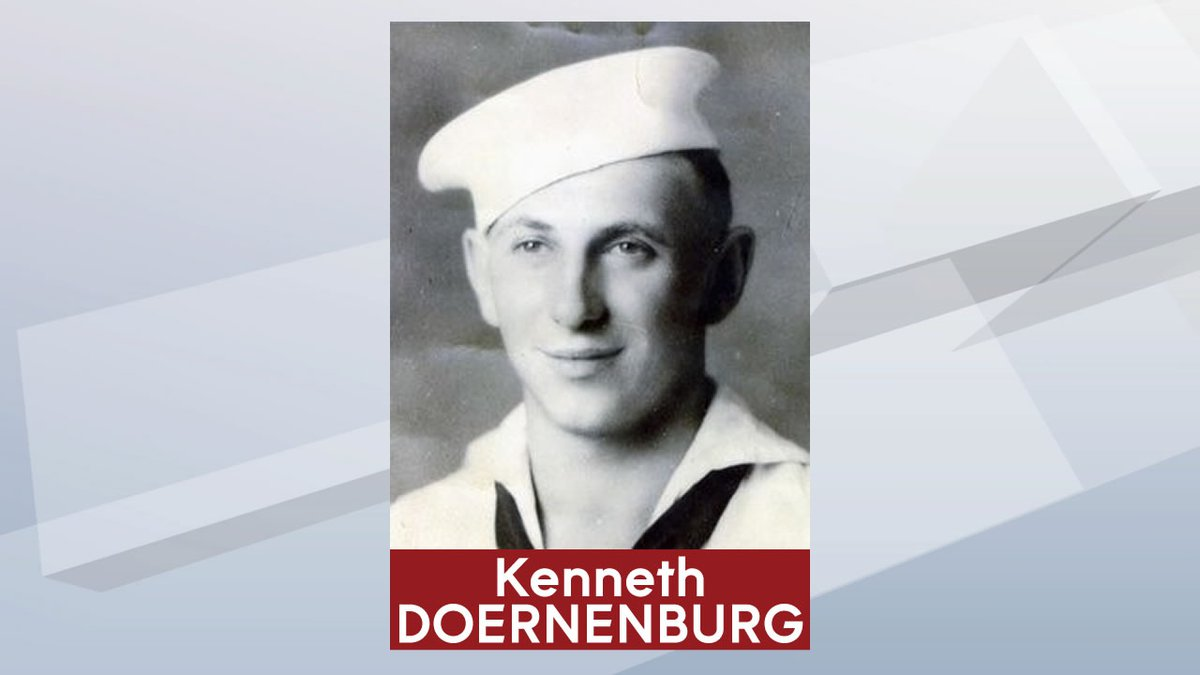 U.S. Navy Fireman 1st Class Kenneth Doernenburg died aboard the USS Oklahoma in the attack on...