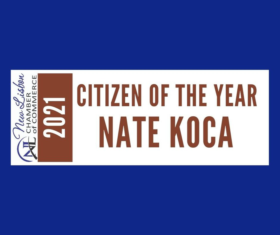 Koca recently received the distinction by the New Lisbon Area Chamber of Commerce