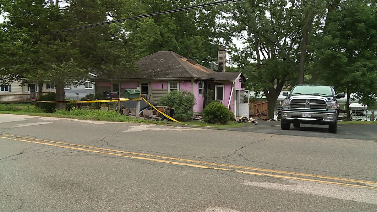 Dozens of firefighters responded early Wednesday morning battle a blaze at a Lodi house.
