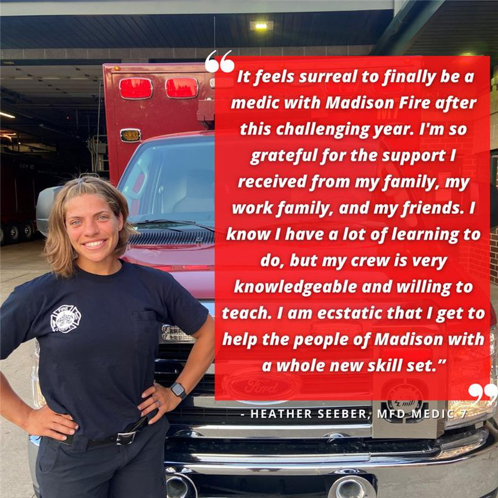 Heather Seeber with Madison Fire Department