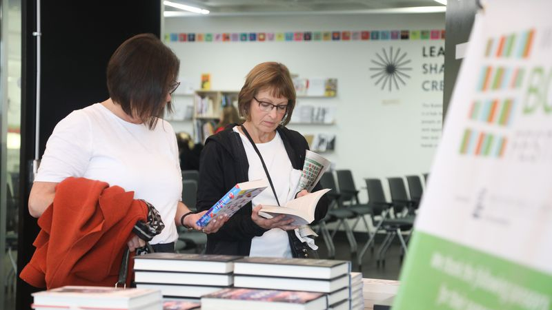 Readers purchase books during WI Book Festival 2019