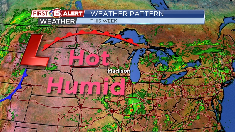 Weather Pattern - Hot and humid with daily rain and storm chances