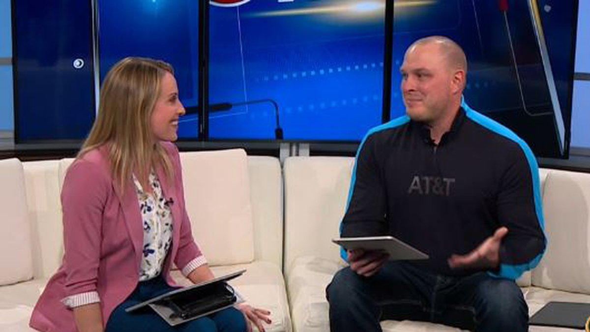 AT&T's Caleb Drolshagen demonstrates apps to help you keep track of your March Madness...