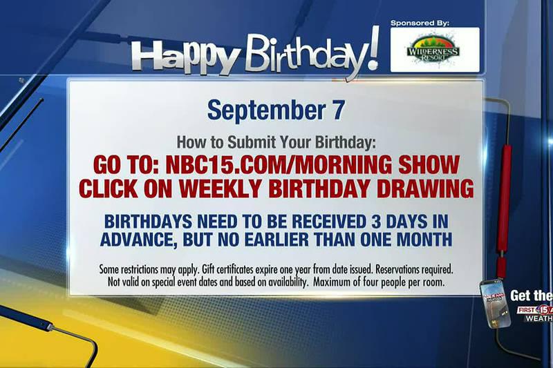 Birthdays for Tuesday, September 7