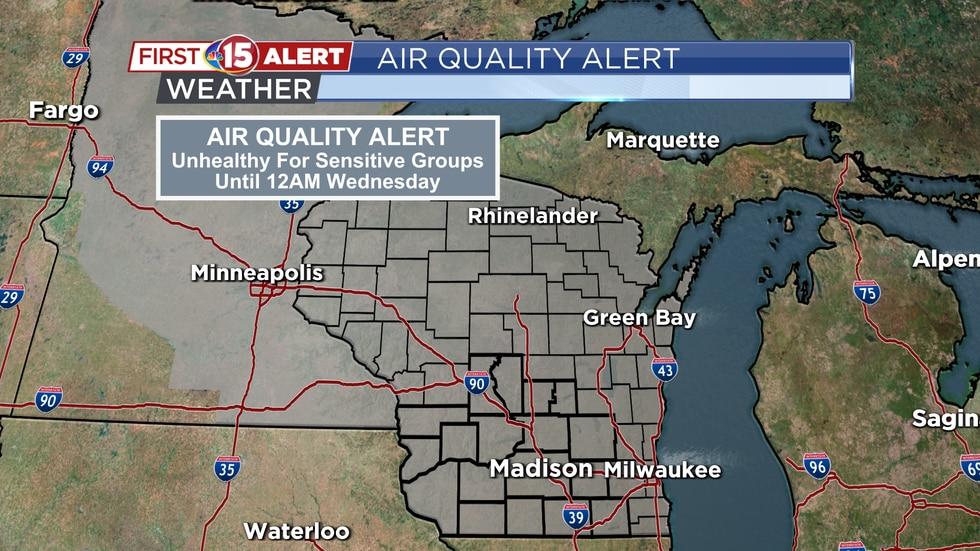 Air Quality Alert until 12 a.m. Wednesday
