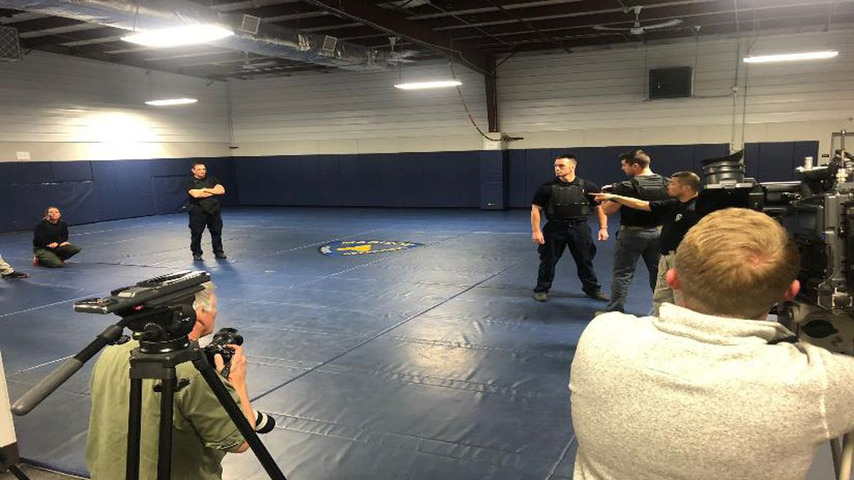 MPD in action during their Use of Force training session on Dec. 3.