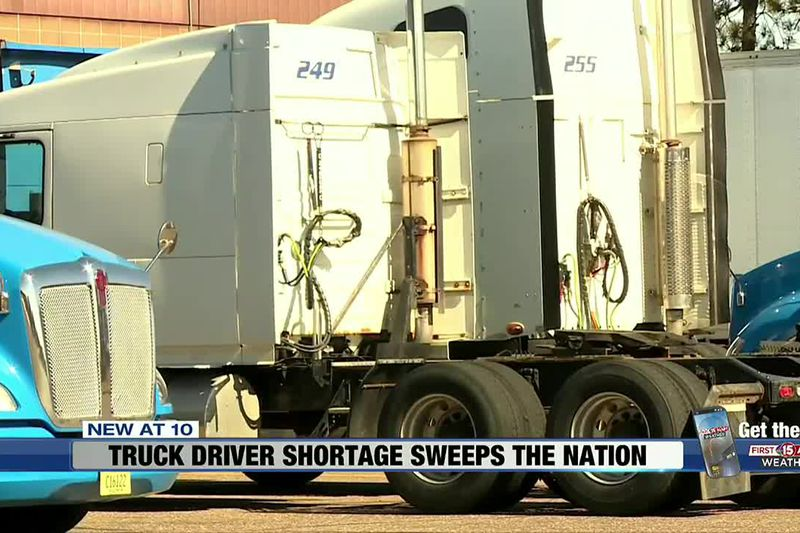 Truck driver shortage sweeps the nation