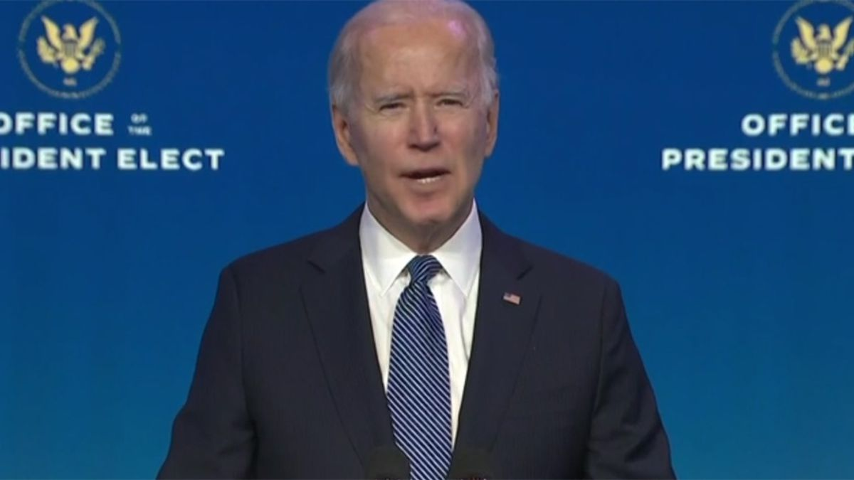 President-elect Joe Biden on Thursday addressed the riot in the Capitol.