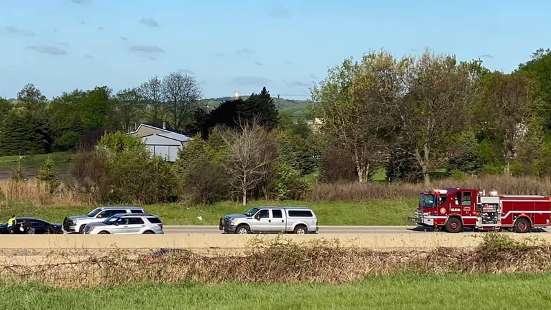 One person is dead after being struck by a semi on I-39 South on May 7, 2021.
