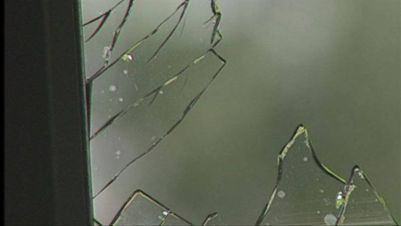 The front glass door of Dirt Cheap was found broken early Sunday morning.