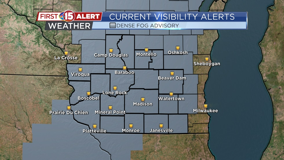 A Dense Fog Advisory is in effect until 10:00 a.m. today. Visibility, at times, could drop to...