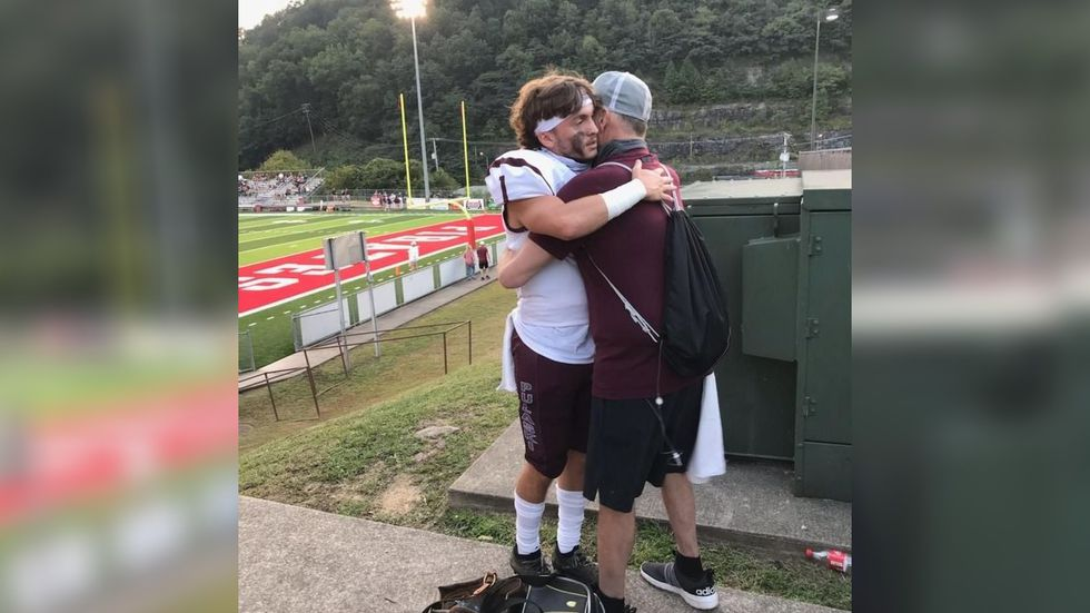 Scott is determined to make memories to give his son something to hold on to when he's gone. That included going to his son Cade's first football game of the season.