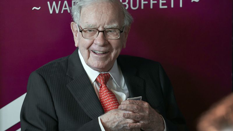 FILE - In this May 5, 2019, file photo Warren Buffett, Chairman and CEO of Berkshire Hathaway,...