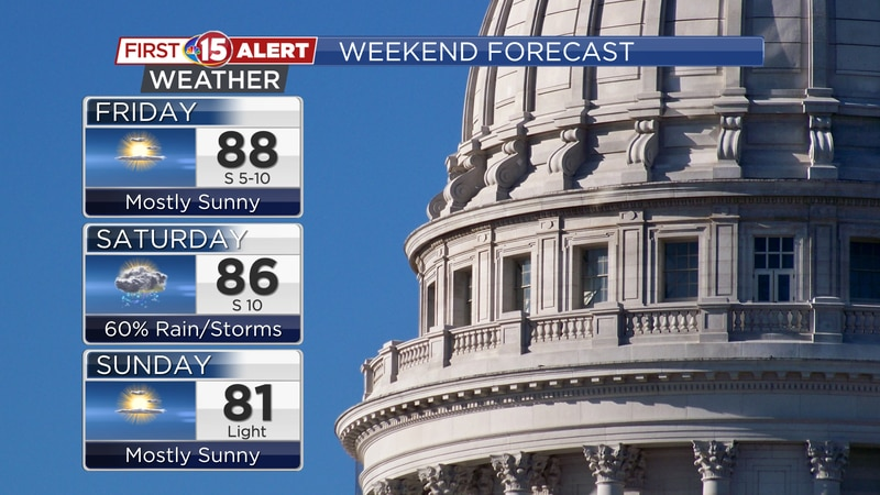 Rain will be likely early Saturday before sunshine returns for the afternoon. Pleasant...