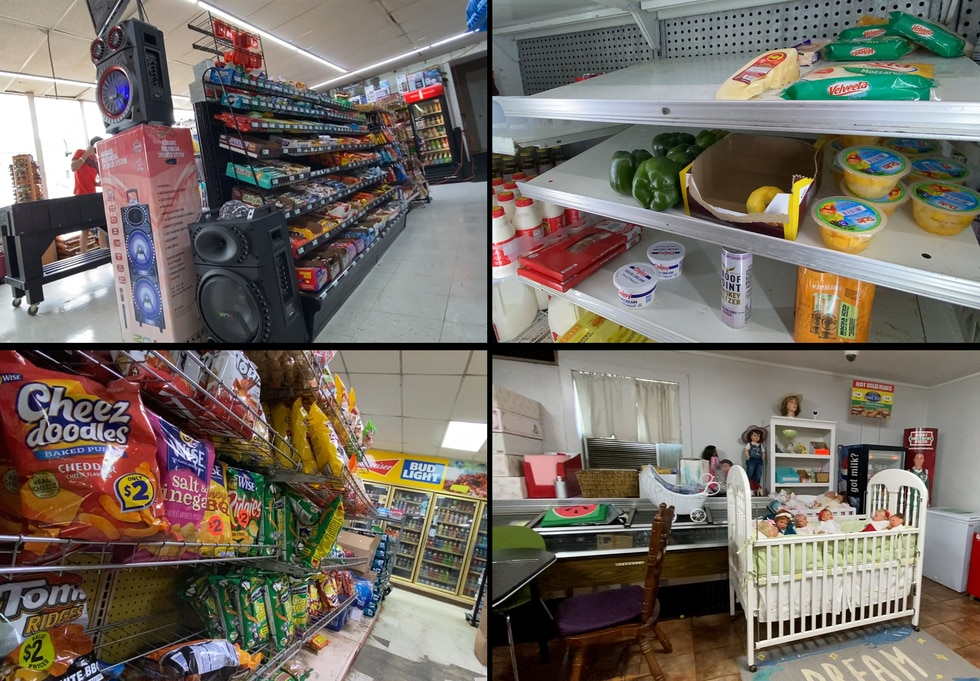In rural Louisiana, small stores that accept SNAP benefits sell items including life-like baby...