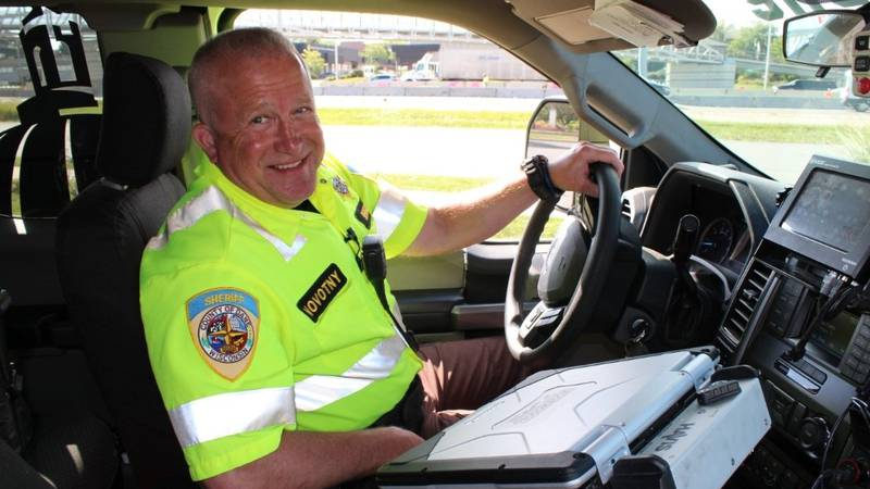 "Deputy Eric Novotny helped pioneer the DCSO program known as ""Beltline Bob"""