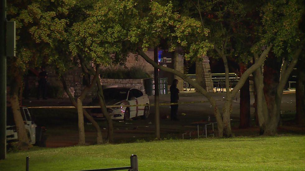 Police investigate shooting scene at Garner Park Tuesday night