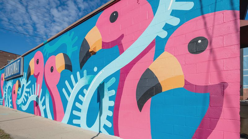 A new mural unveiled at E. Johnson Street thanks to the Madison Public Art Project.