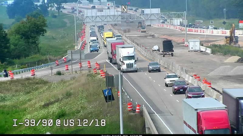 I-39/90 at US 12/18 (The Madison Beltline)
