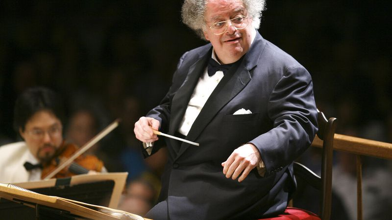 FILE - Boston Symphony Orchestra music director James Levine conducts the symphony on its...